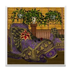 Jewels of India (Purple) Tile Coaster