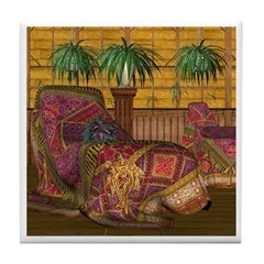 Jewels of India (Red) Tile Coaster