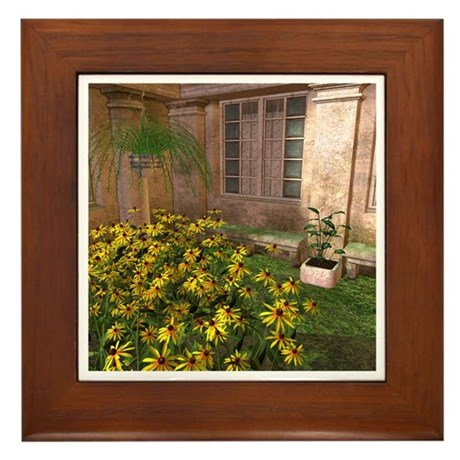 Black Eyed Susans Framed Tile