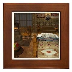 Grandma's Feathered Bed Framed Tile