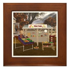 The Vegetable Stand Framed Tile