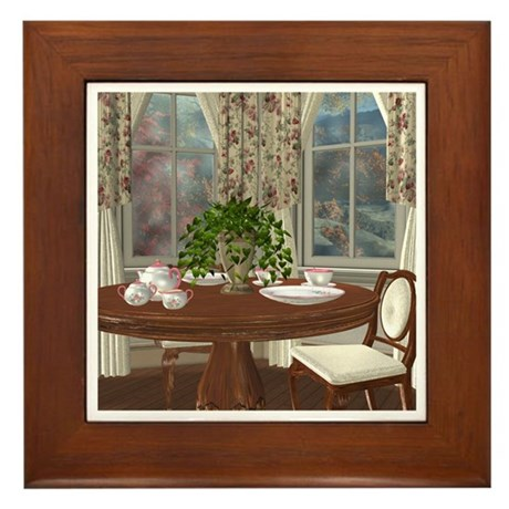 Tea For Two Framed Tile
