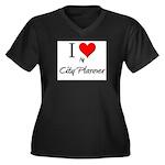 I Love My City Planner Women's Plus Size V-Neck Da