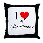 I Love My City Planner Throw Pillow