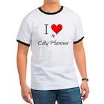 I Love My City Planner Ringer T