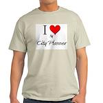 I Love My City Planner Light T-Shirt