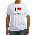 I Love My City Planner Fitted T-Shirt
