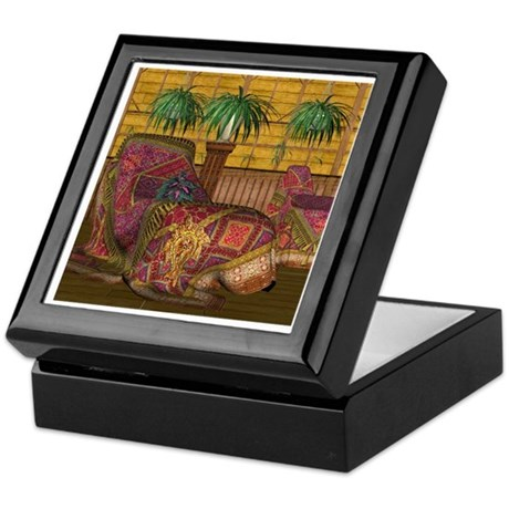 Jewels of India (Red) Keepsake Box