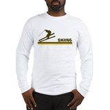 Retro Skiing  Long Sleeve T-Shirt