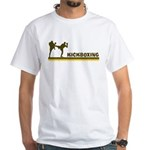 Retro Kickboxing White T-Shirt