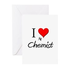 I Love My Chemist Greeting Cards (Pk of 10)