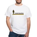 Retro Firefighter White T-Shirt