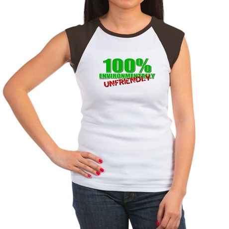 100% Environmentally Unfriend Women's Cap Sleeve T