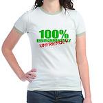 100% Environmentally Unfriend Jr. Ringer T-Shirt
