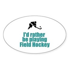 SportChick's HockeyChick Rather Oval Decal