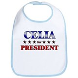 CELIA for president Bib
