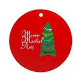 Merry Martial Arts Ornament (Round)