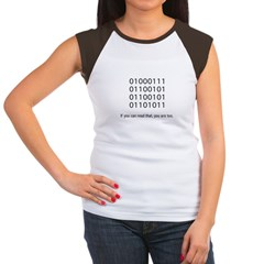 Geek in Binary - Women's Cap Sleeve T-Shirt