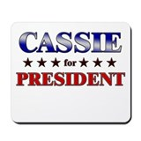CASSIE for president Mousepad