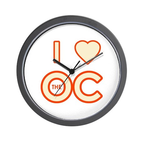 I Love the OC Wall Clock