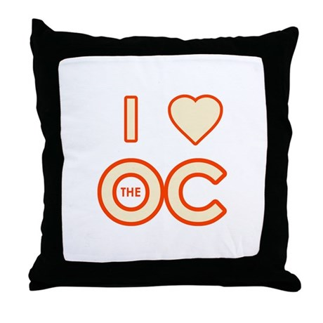 I Love the OC Throw Pillow