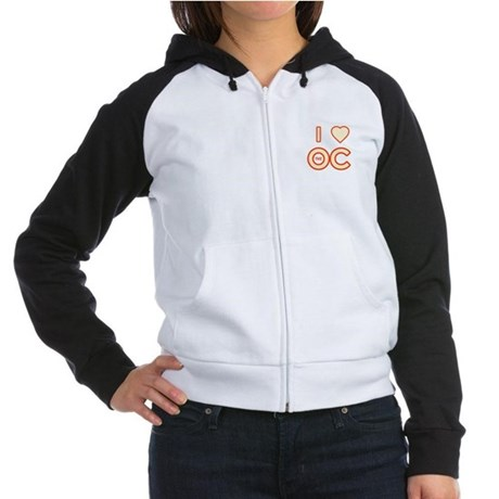 I Love the OC Womens Raglan Hoodie