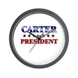 CARTER for president Wall Clock