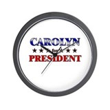 CAROLYN for president Wall Clock