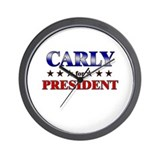 CARLY for president Wall Clock