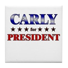CARLY for president Tile Coaster