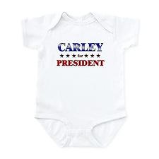 CARLEY for president Infant Bodysuit