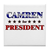 CAMREN for president Tile Coaster
