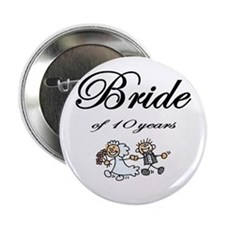 "10th Wedding Anniversary Gifts 2.25"" Button"