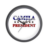 CAMILA for president Wall Clock