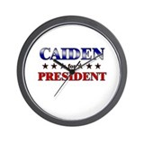 CAIDEN for president Wall Clock