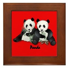Giant Panda Bear Framed Tile