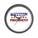 BRYSON for president Wall Clock