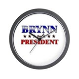 BRYNN for president Wall Clock