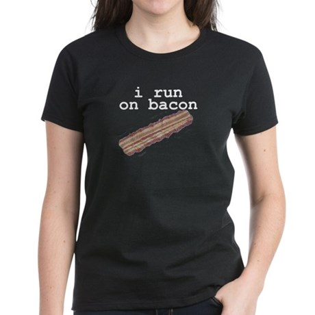 i run on bacon Women's Dark T-Shirt