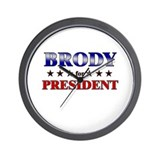 BRODY for president Wall Clock