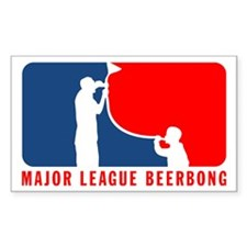 Magor Leage Beer Bong Rectangle Decal