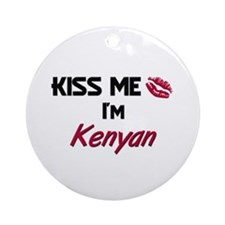 Kiss me I'm Kenyan Ornament (Round)