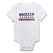 BRIELLE for president Infant Bodysuit