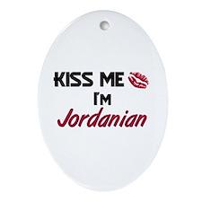 Kiss me I'm Jordanian Oval Ornament