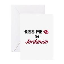 Kiss me I'm Jordanian Greeting Card