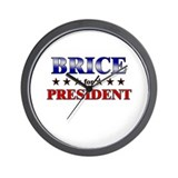 BRICE for president Wall Clock