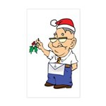 Kiss a Mason Mistletoe Rectangle Sticker