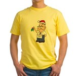 Kiss a Mason Mistletoe Yellow T-Shirt
