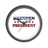 BRENNEN for president Wall Clock