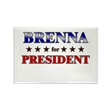 BRENNA for president Rectangle Magnet